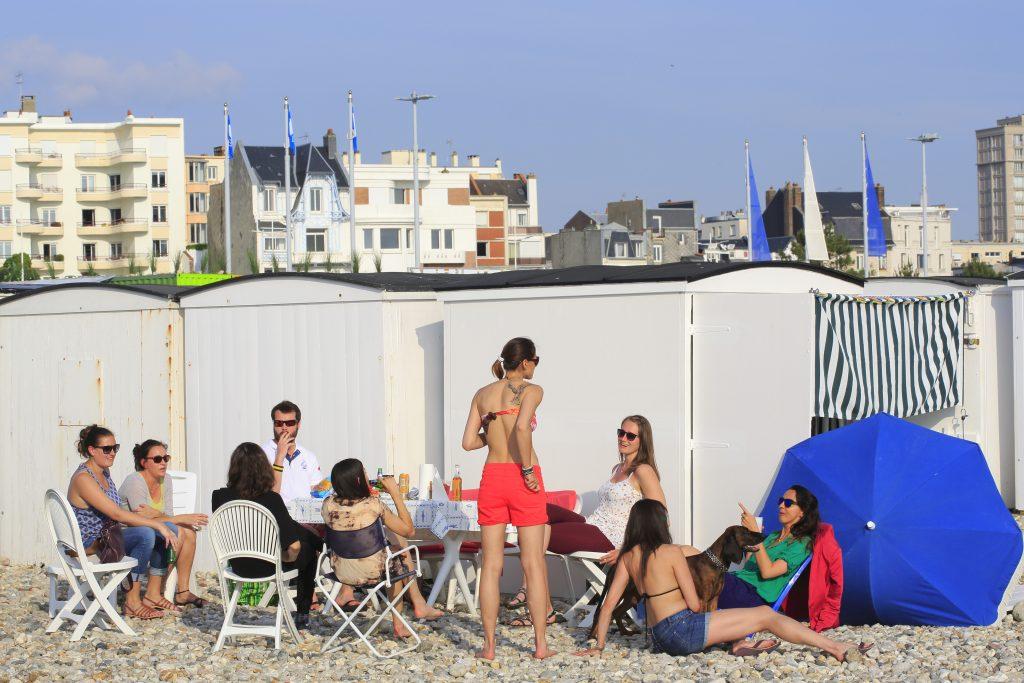 Plage du Havre, cabanes de plage