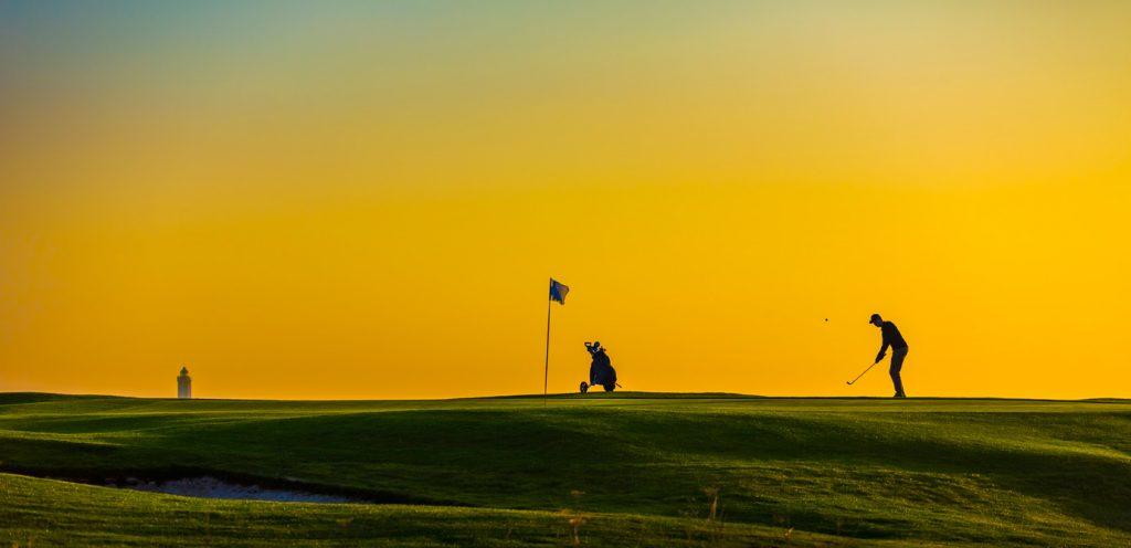 Golfeur au golf d'Etretat