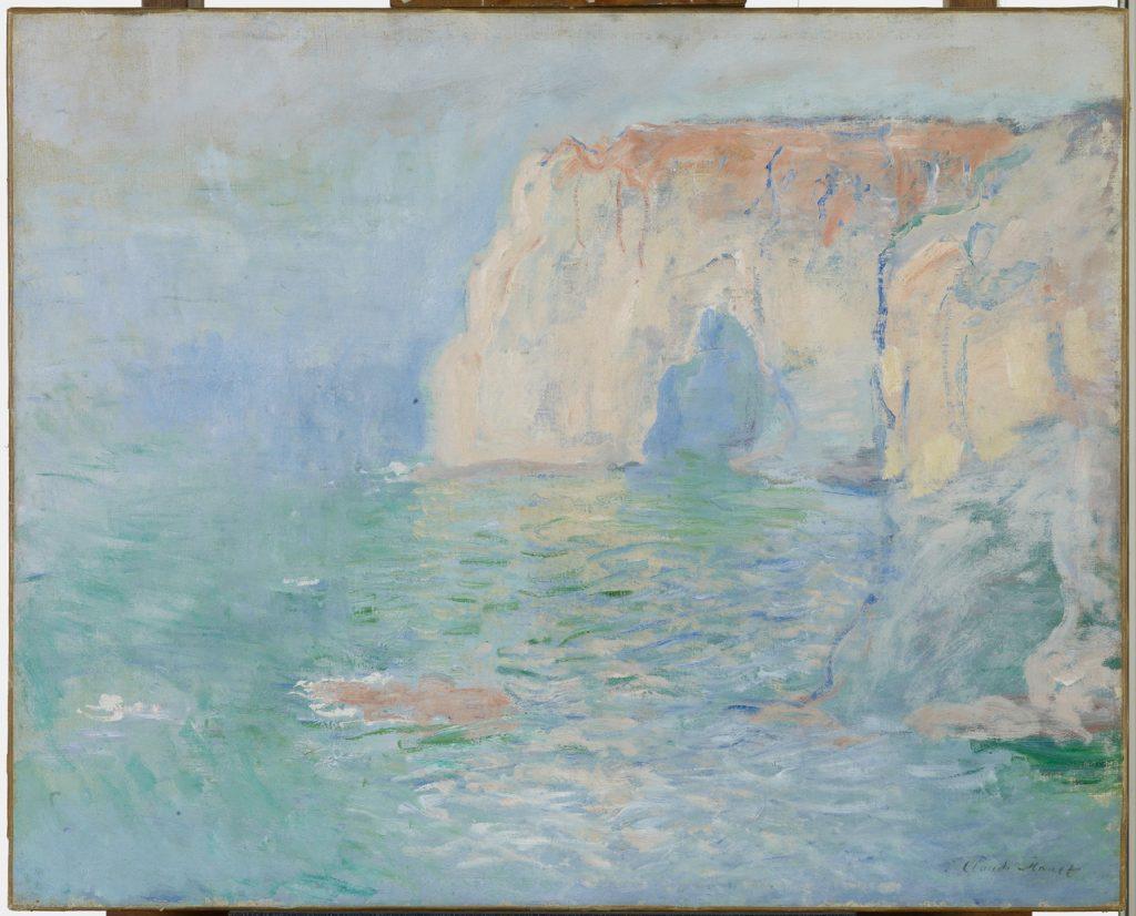 Claude Monet, La Manneporte, reflets sur l'eau