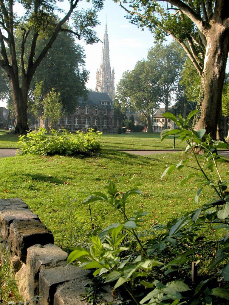 Le parc de la mairie d'Harfleur