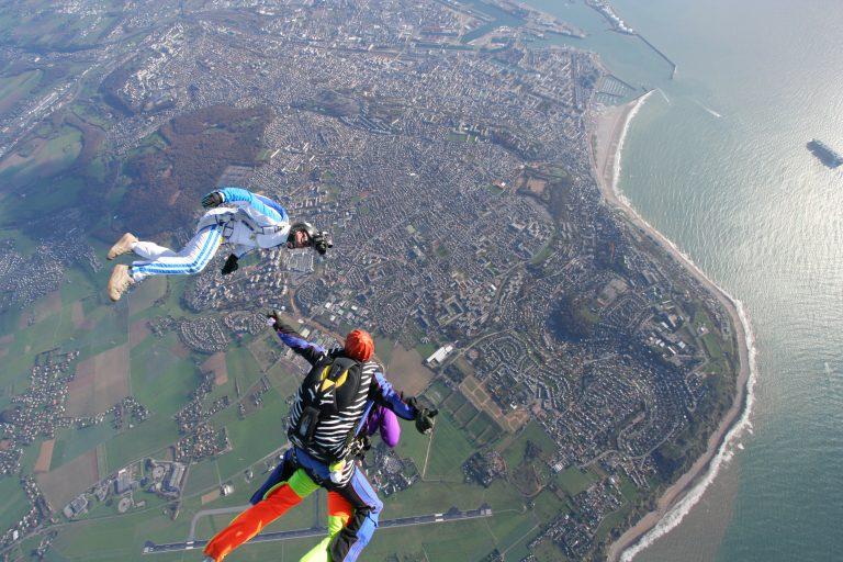Saut en parachute au dessus du Havre