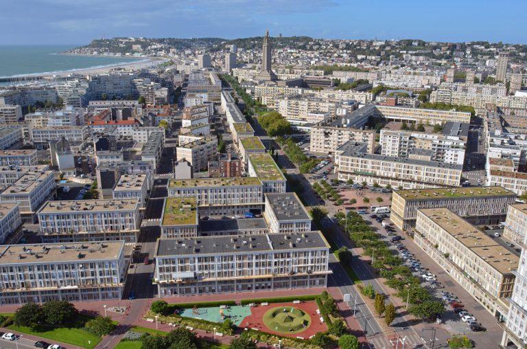 Le boulevard François 1er vu du ciel