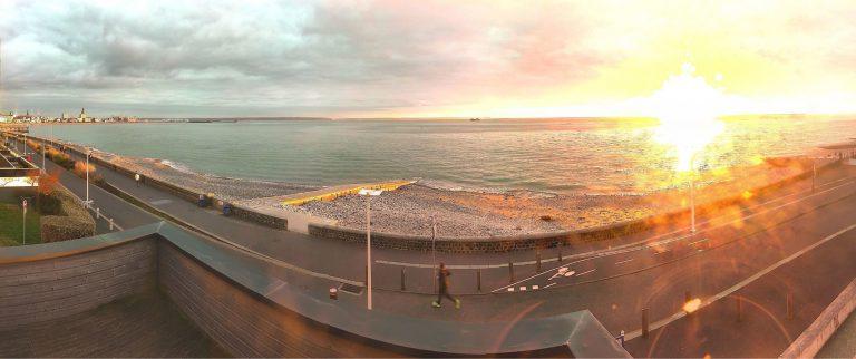 La webcam de Sainte-Adresse filmant la mer et le port du Havre
