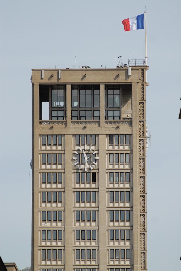La tour de l'Hôtel de Ville du Havre