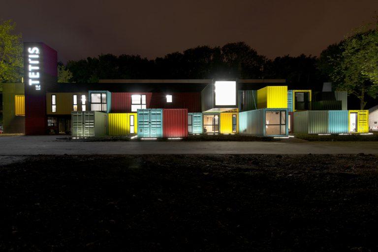Le Tetris au Fort de Tourneville au Havre