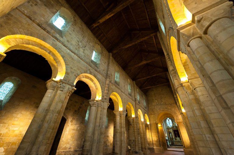 La nef de l'abbaye de Graville au Havre