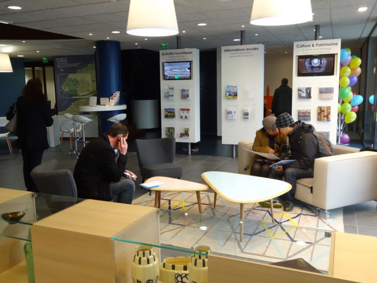 Le Havre, l'office de tourisme, le salon