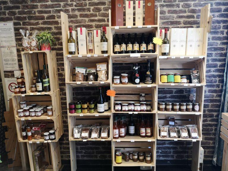 Etagère de produits régionaux au Havre