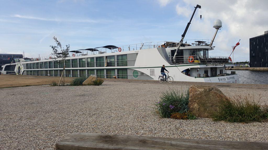 Le bateau de croisières fluviales Swiss Saphire en escale au Havre