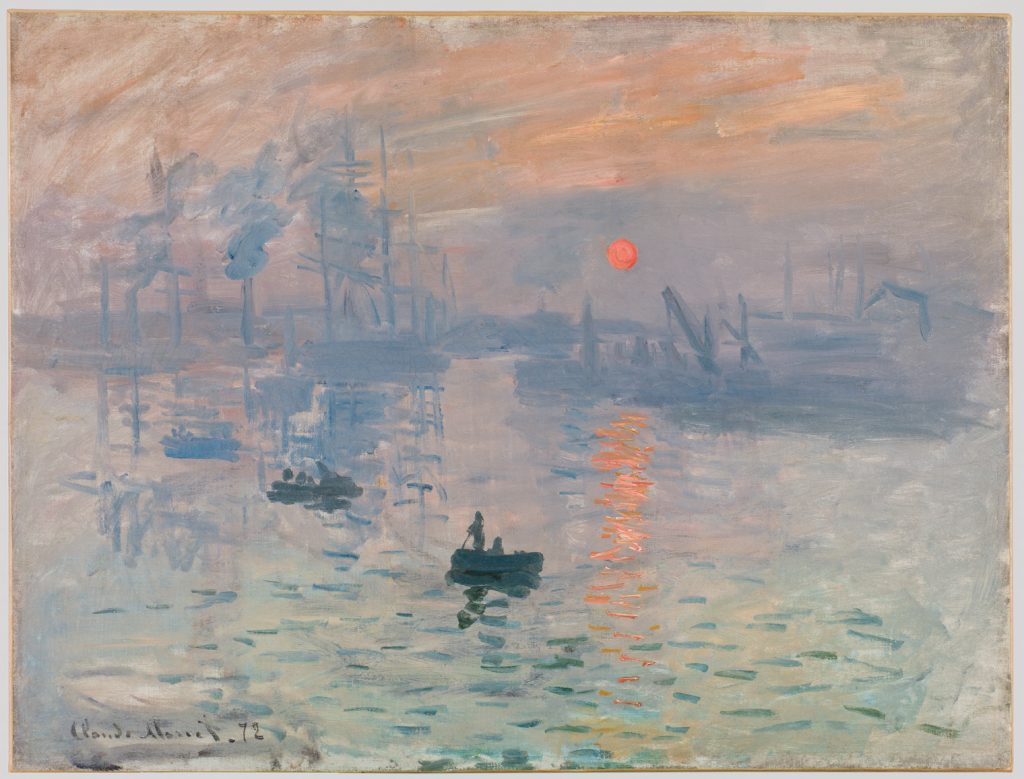Impression, soleil levant - Tableau de Claude Monet
