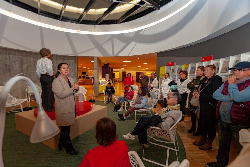 Visite de la bibliothèque Niemeyer lors des Nuits du Tourisme