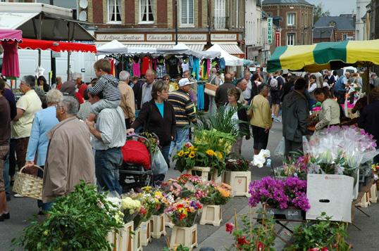 Le marché de Saint-Romain de Colbosc