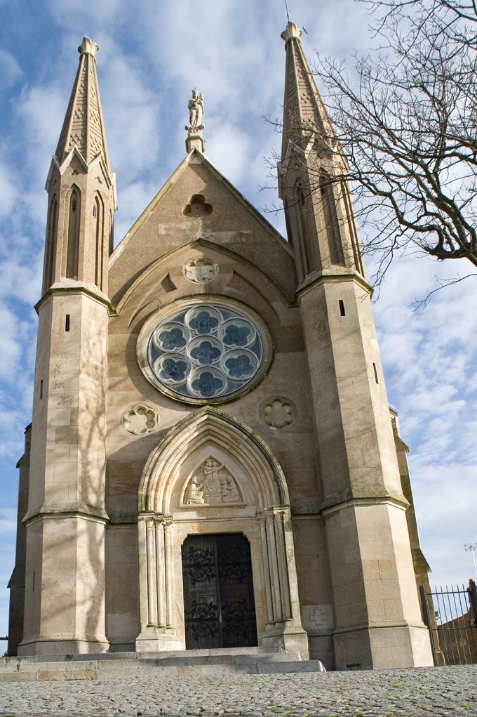 Façade de la chapelle Notre-Dame des Flots à Sainte-Adresse