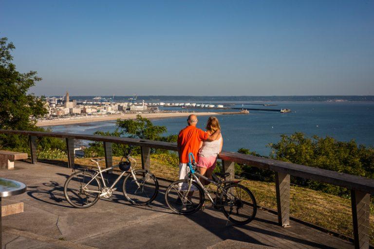 Vue sur Le Havre depuis la table d'orientation de Sainte-Adresse