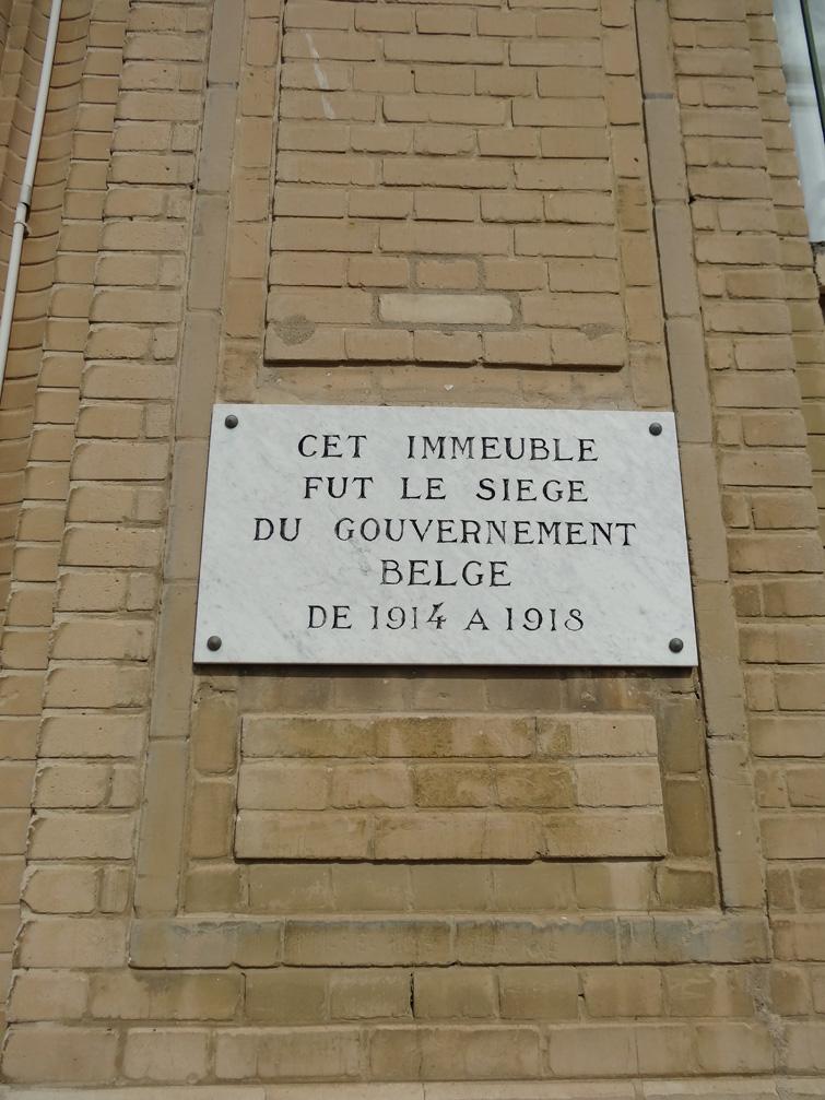 Plaque commémorative sur l'immeuble le Nice Havrais à Sainte-Adresse