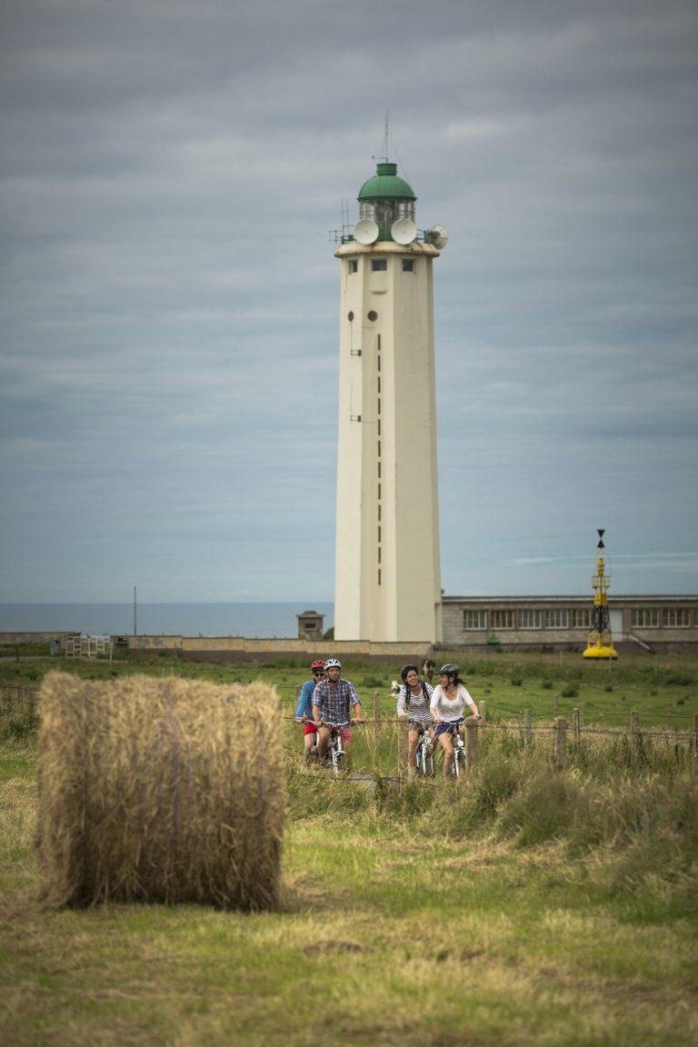 Antifer, le phare, promenade à vélo