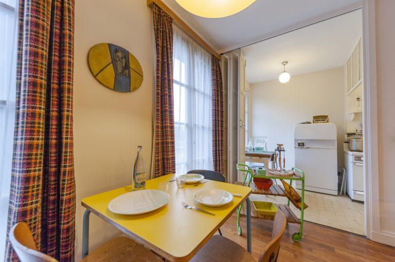 Salle à manger de l'appartement témoin du Havre