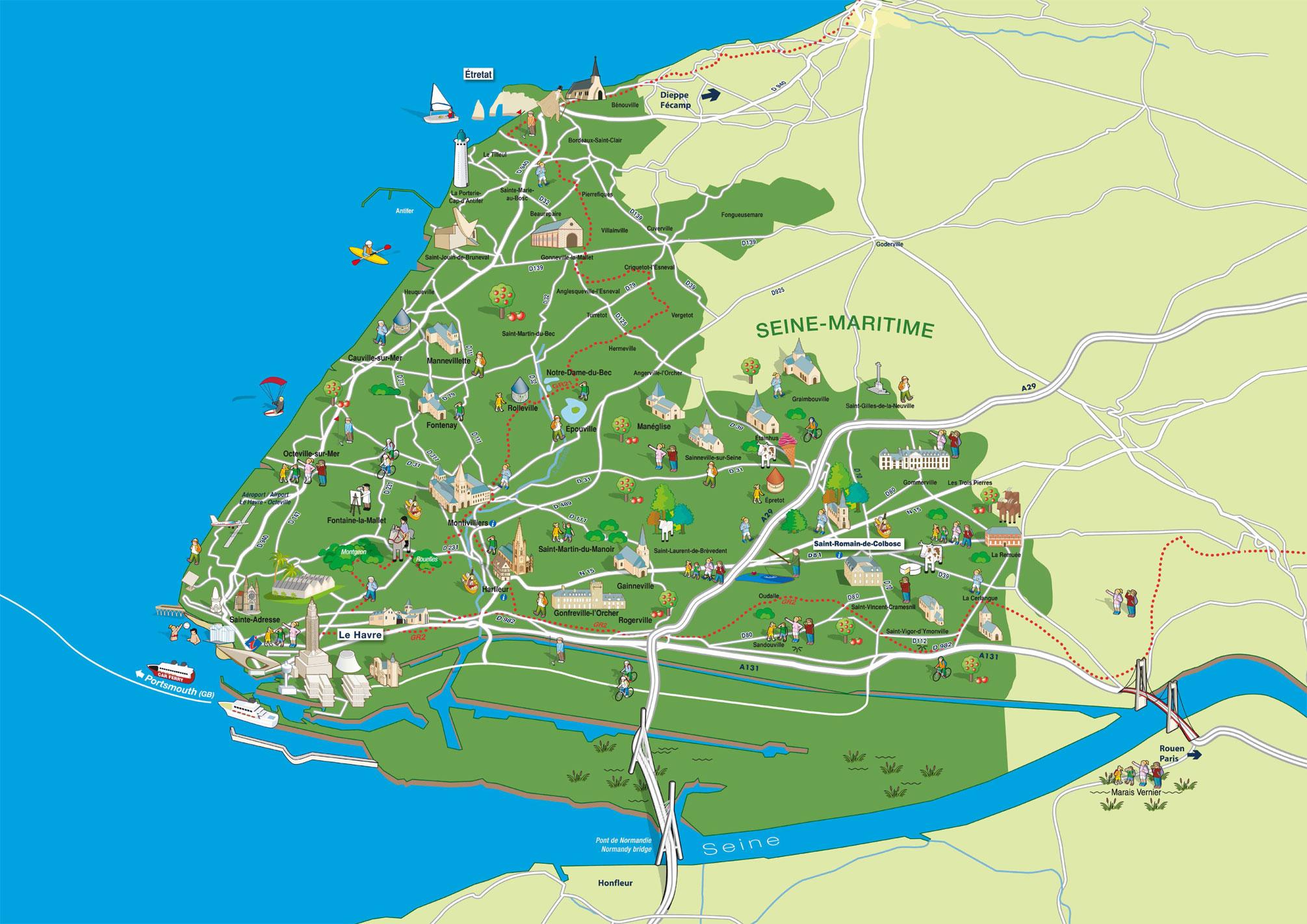 Carte de la destination Le Havre Seine Métropole