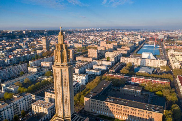Le Havre vue aérienne église Saint-Joseph