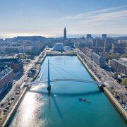Le Havre vue sur le bassin du commerce