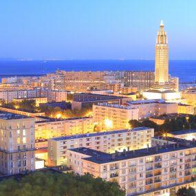 Eglise Saint Joseph du Havre, vue de nuit