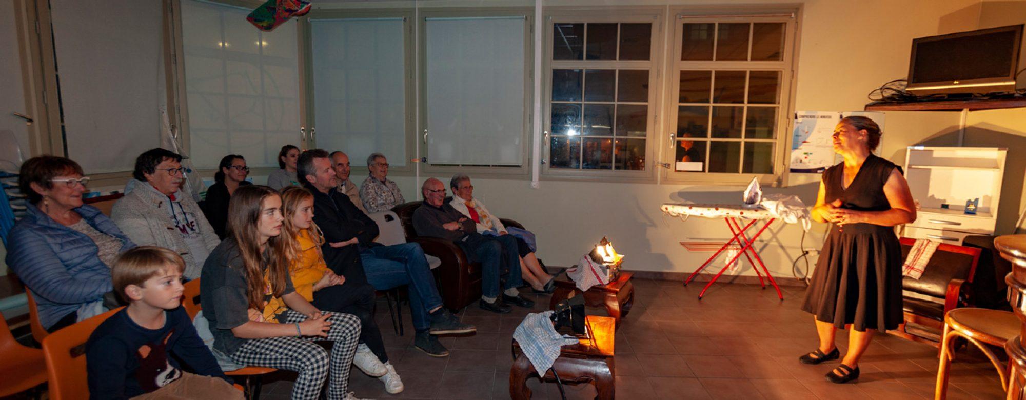 Récit théâtralisé à Etretat lors des Nuits du Tourisme