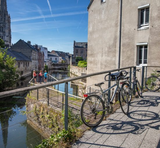 Vélocyclistes à Harfleur