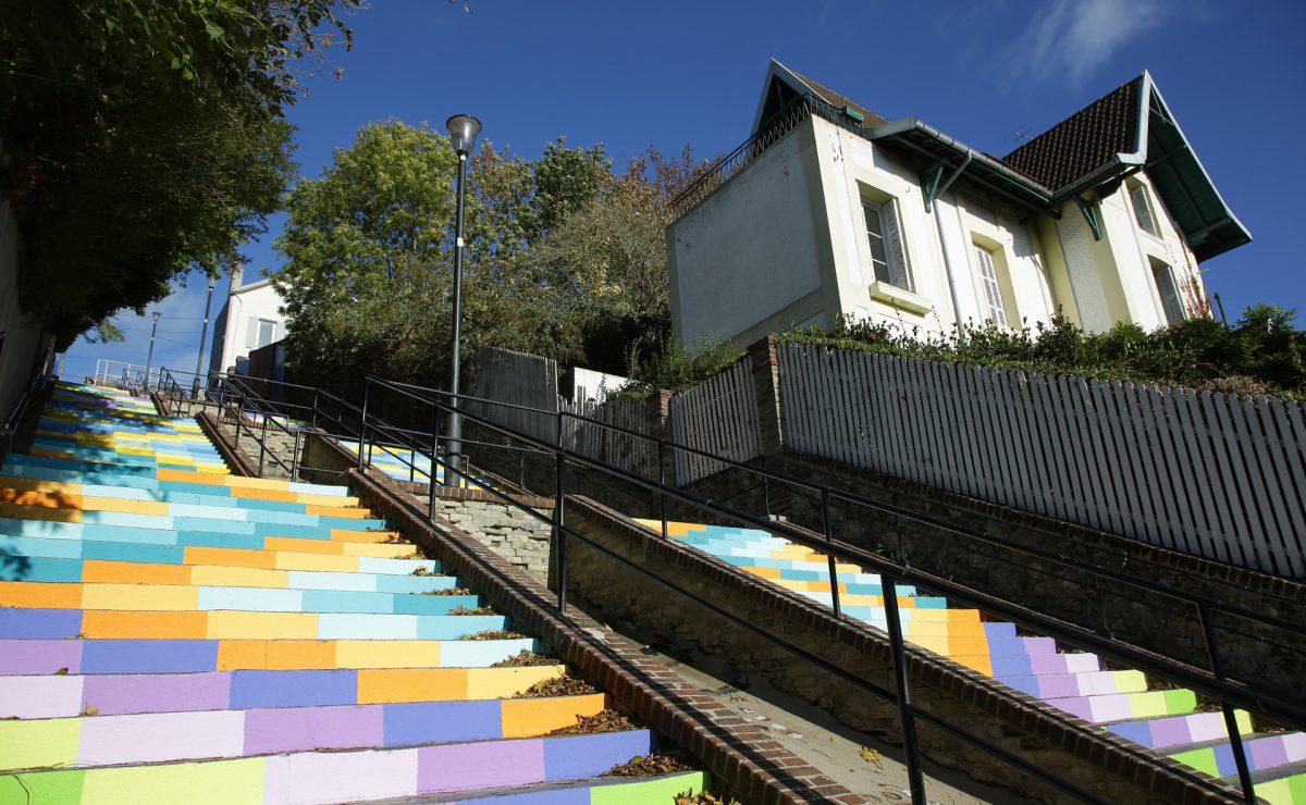 Le haut des escaliers de Montmorency