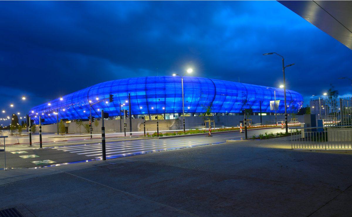 Le Stade Océane de nuit