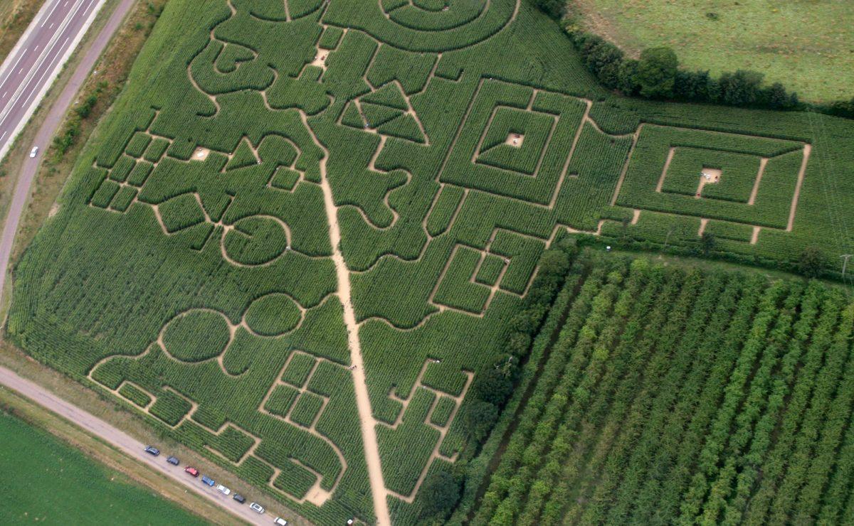 Vue aérienne du labyrinthe du Pays du Havre