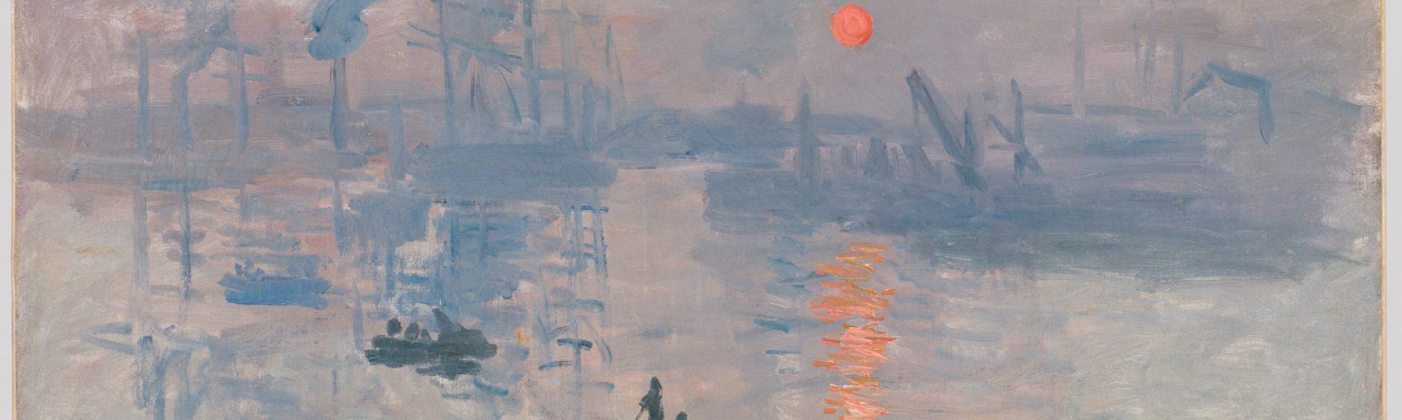 Impression, soleil levant - Tableau de Claude Monet