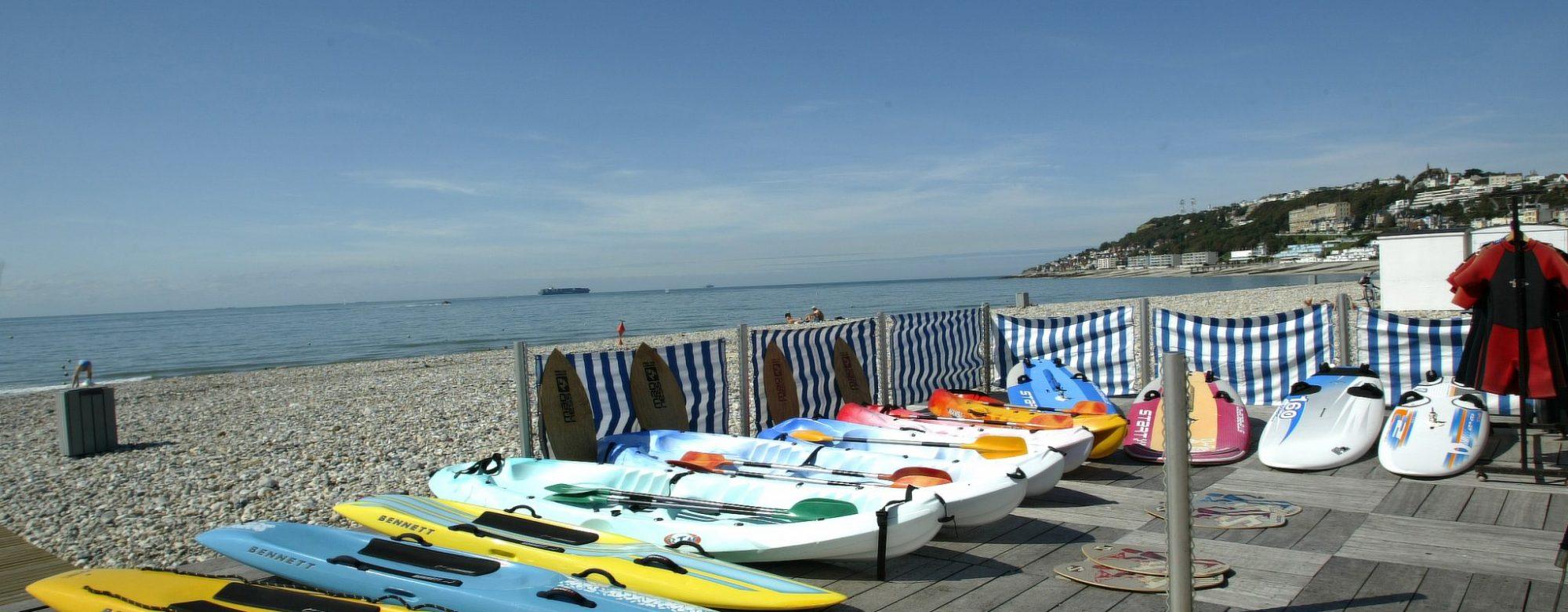Location de canoë sur la plage du Havre