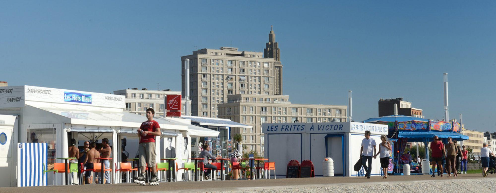 Restaurants de mer sur la plage du Havre