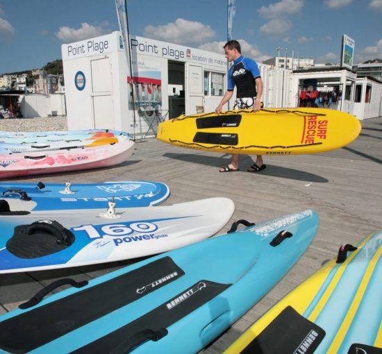 Point Plage, loueur de canoës sur la plage du Havre